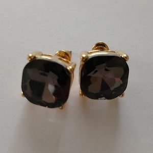 Brown rhinestone earrings new with tags